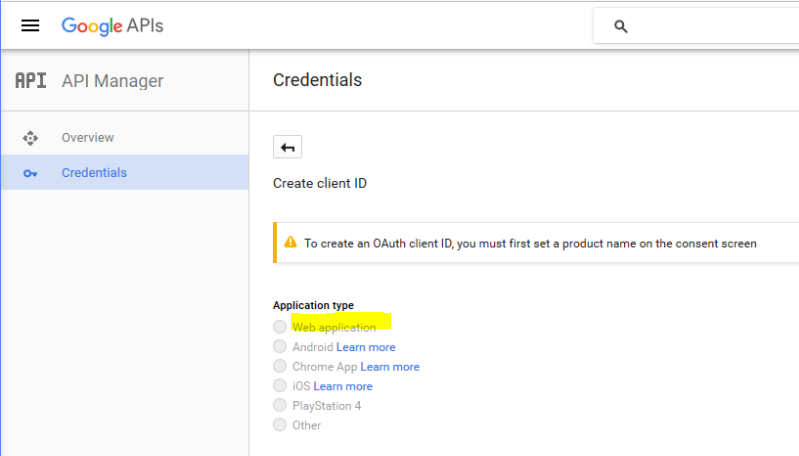3. Creat OAuth client - sub