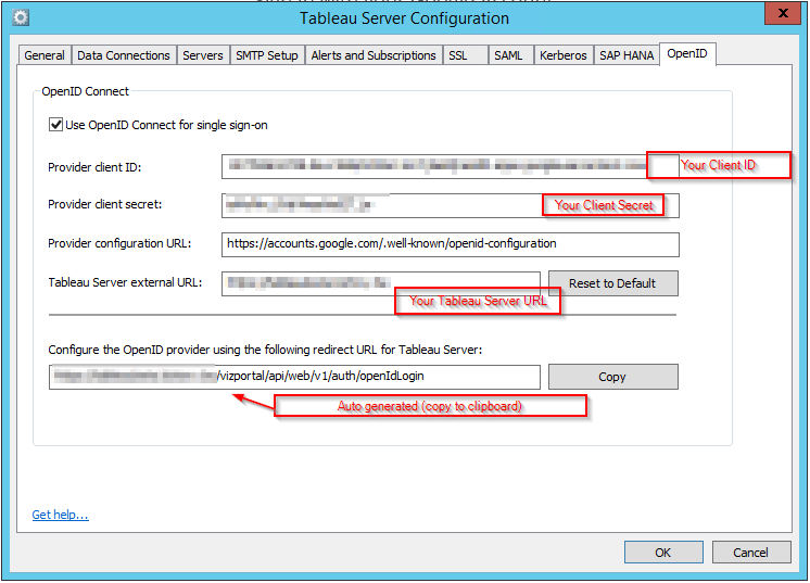 Tableau Server Config